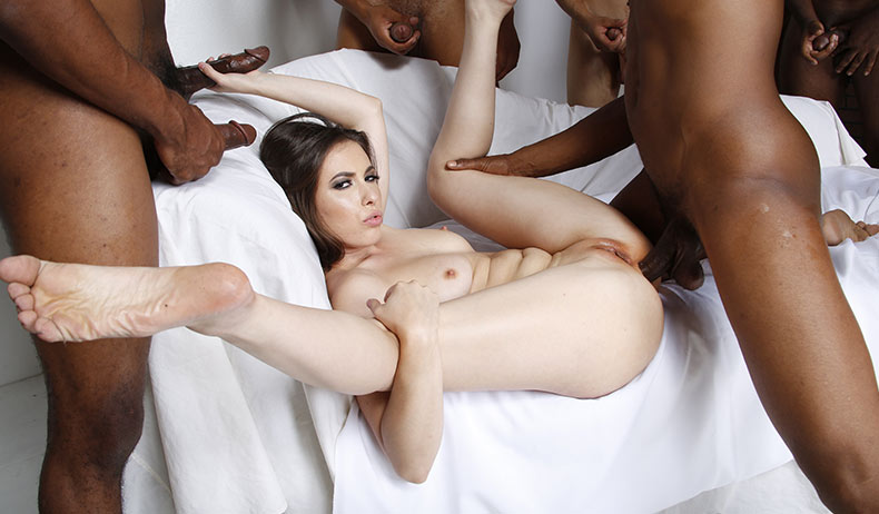 On gangbang blondes blacks interracial
