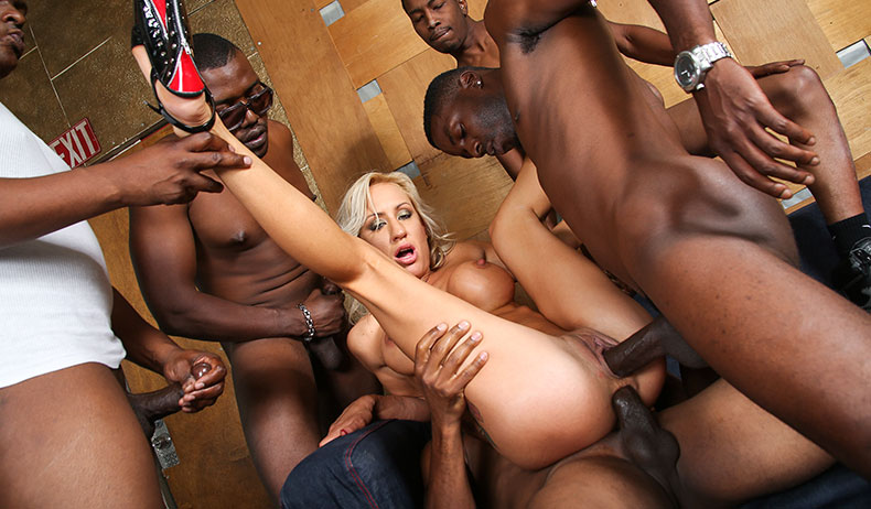 Brutal monster cock gangbang already far