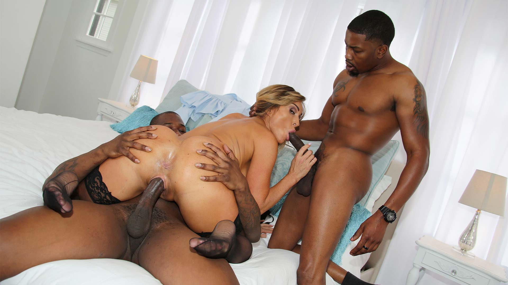 BlacksOnCougars Aubrey Black Interracial Porn