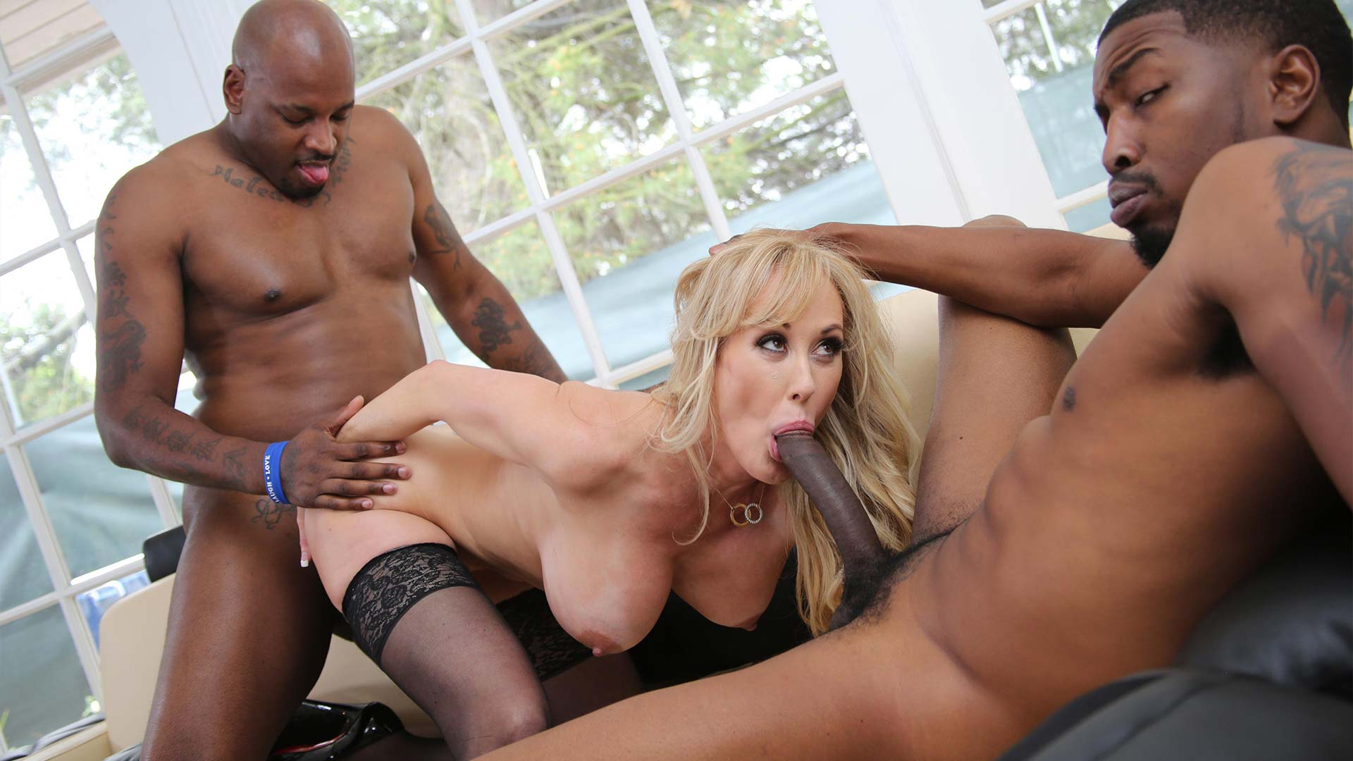 BlacksOnCougars Brandi Love Interracial Porn