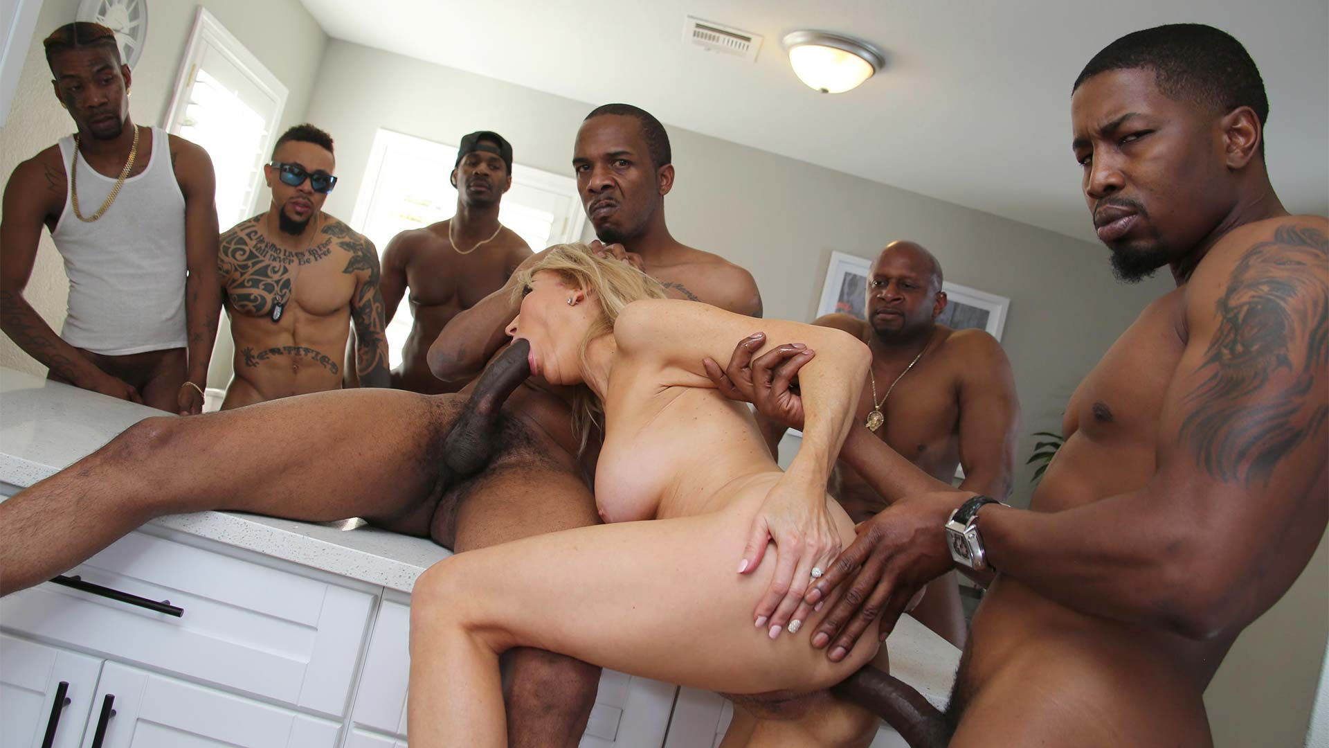 BlacksOnCougars Erica Lauren Interracial Porn