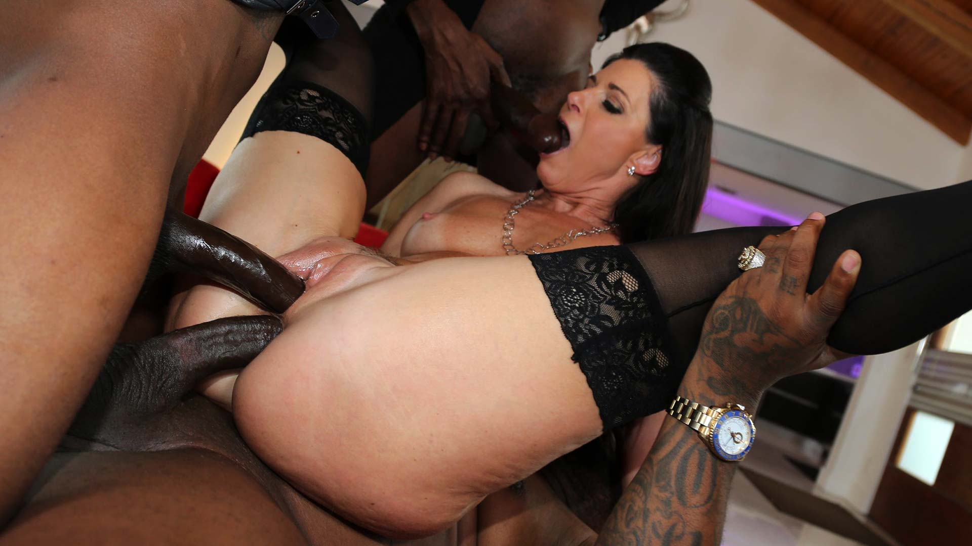 BlacksOnCougars India Summer Interracial Porn