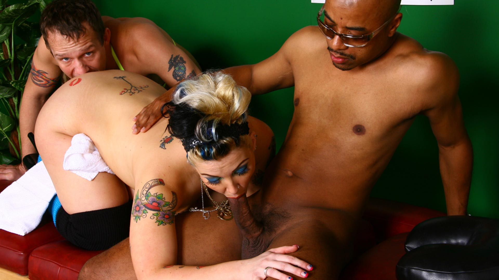 CandyMonroe Broc Adams Interracial Porn