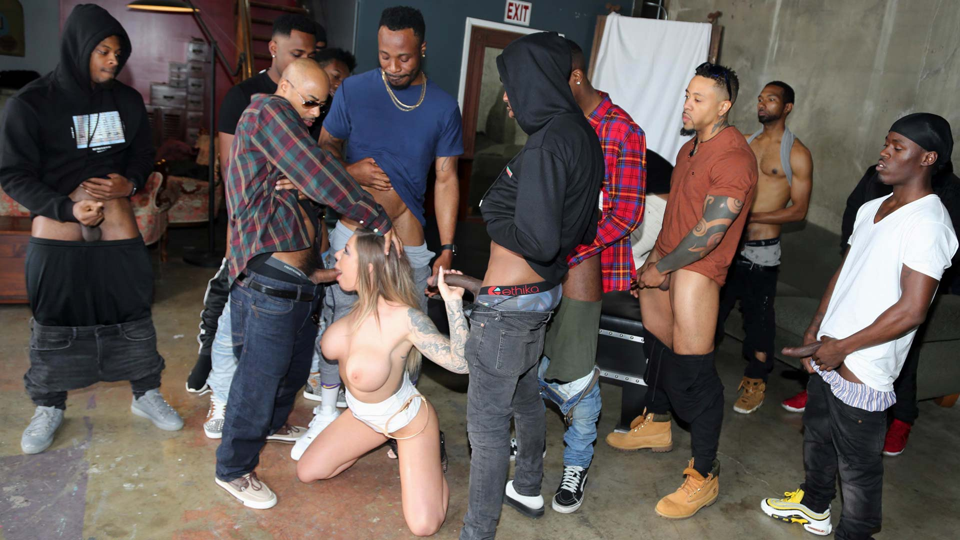 InterracialBlowbang Karma Rx Interracial Porn