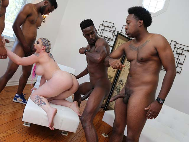 Leya Falcon from InterracialBlowbang.com