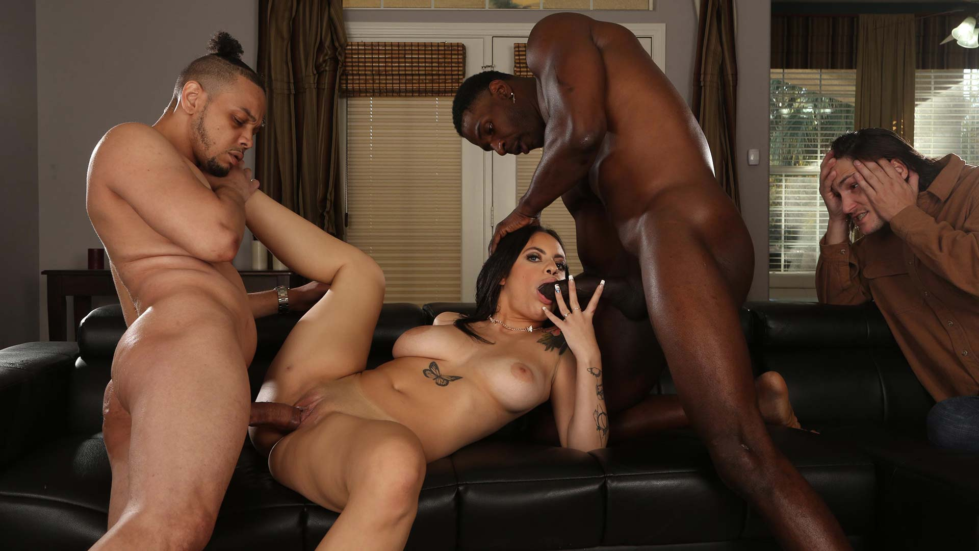 WatchingMyDaughterGoBlack Melody Foxx Interracial Porn